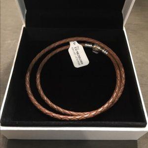 NWT Pandora Leather Bracelet